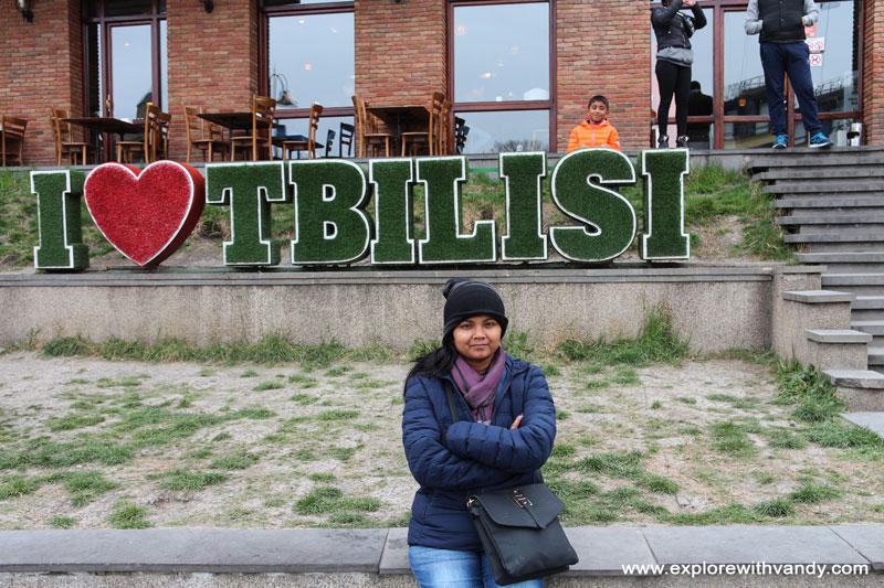 I love Tbilisi sign