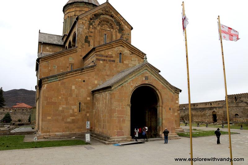 Svetitskhoveli church entrance