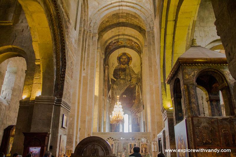 Inside Svetitskhoveli church