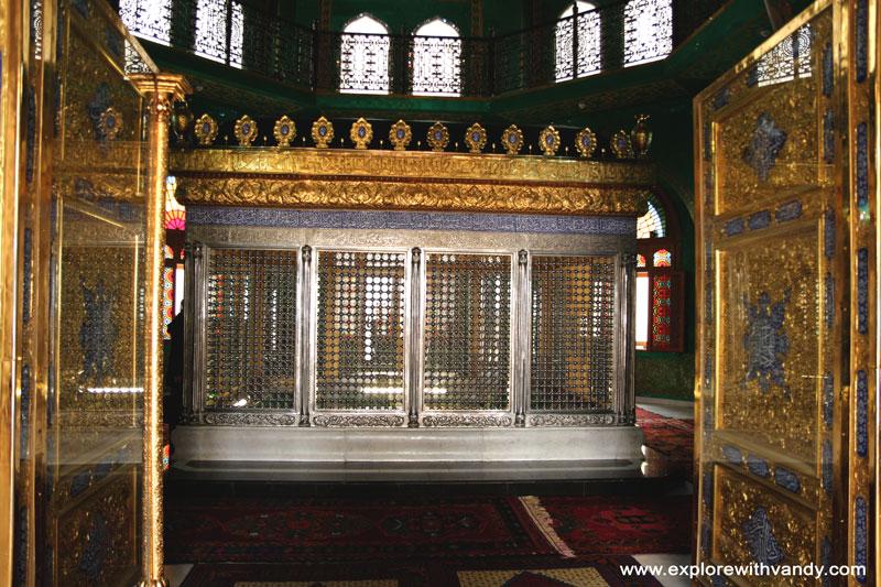 Inside Bibi Heybat Mosque