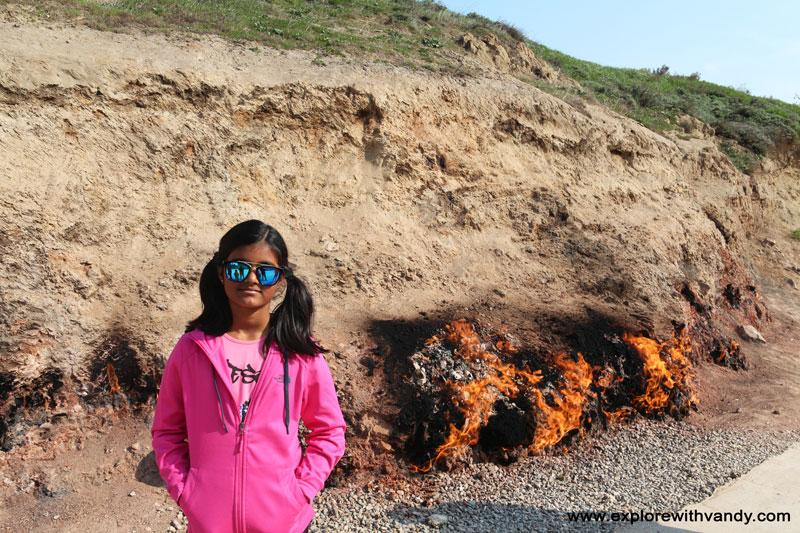 At Yanar Dag fire hill
