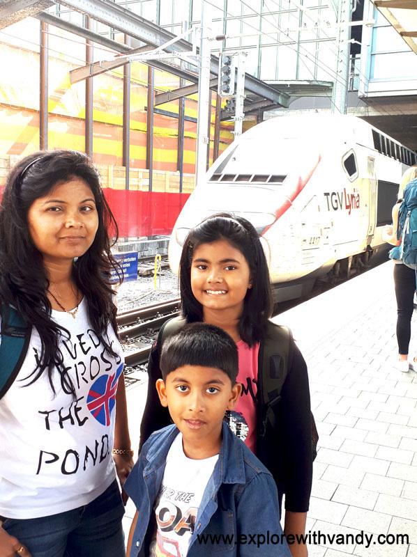 TGV Lyria arriving at Basel station