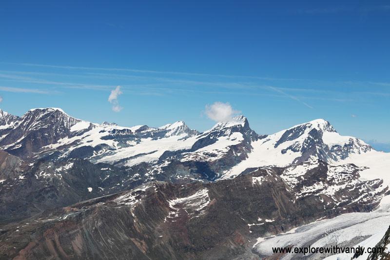 From  Klein Matterhorn observation platform