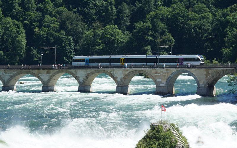Rhine falls Railway pedestrian bridge