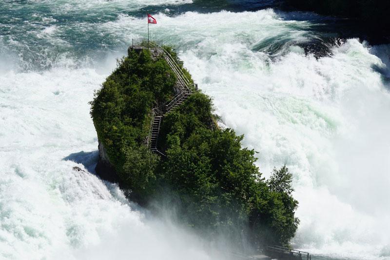 Rhine falls rock island