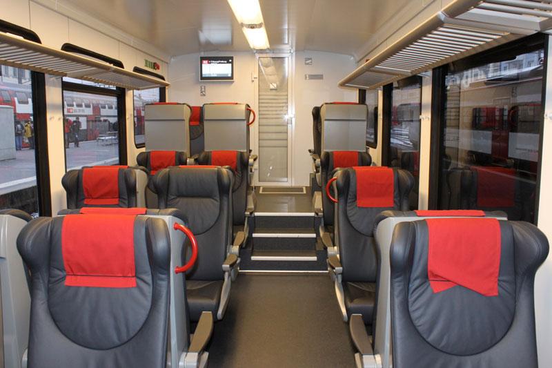 Swiss first class interior