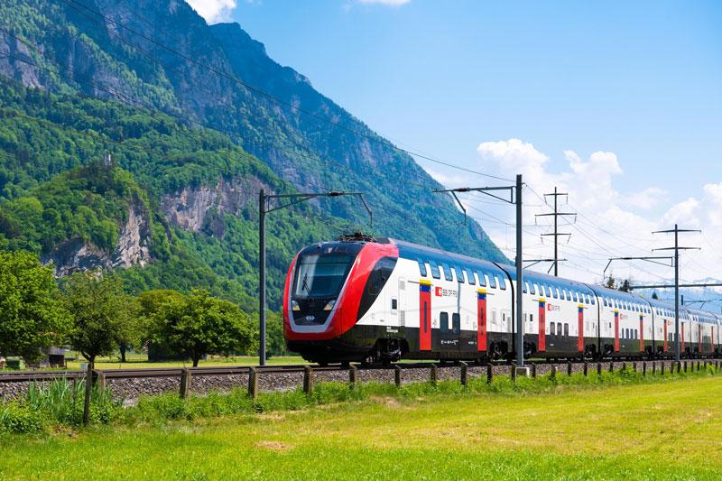 Swiss passenger train