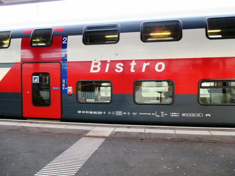 Swiss railway Bistro