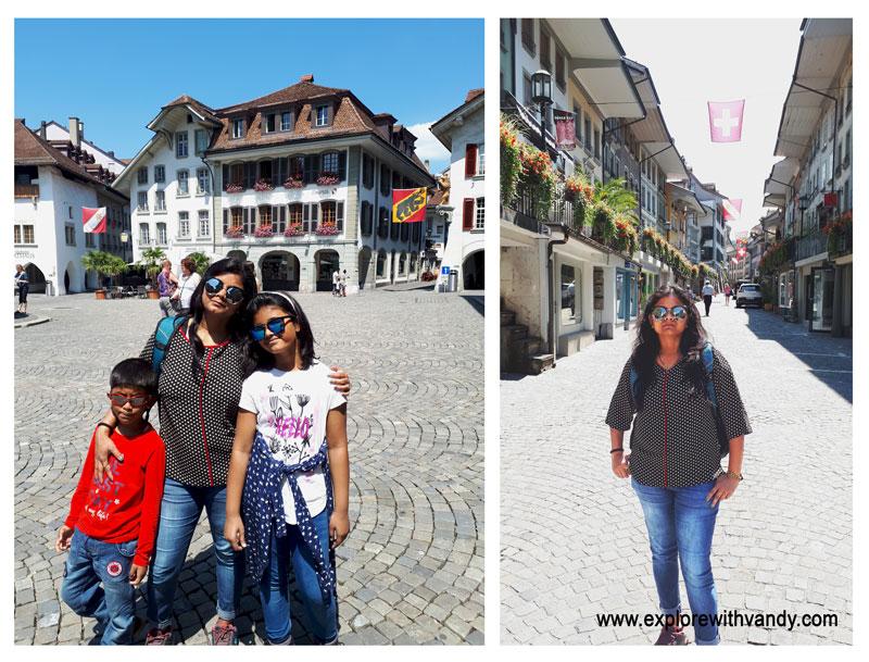 Thun town hall street