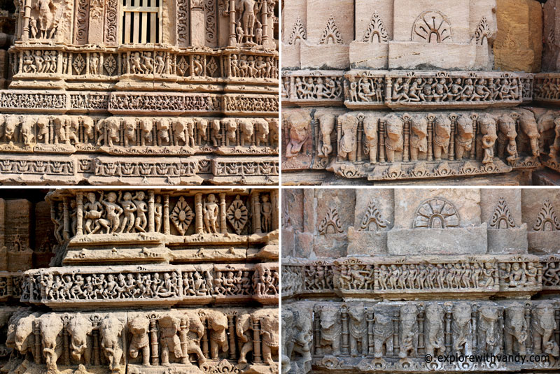 Temple wall carvings